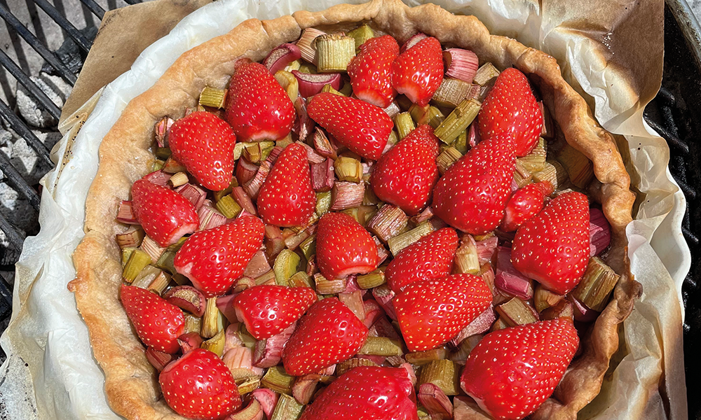 Recette - Barbecue - Tarte fraises et rhubarbe - Gamme bio-épurée