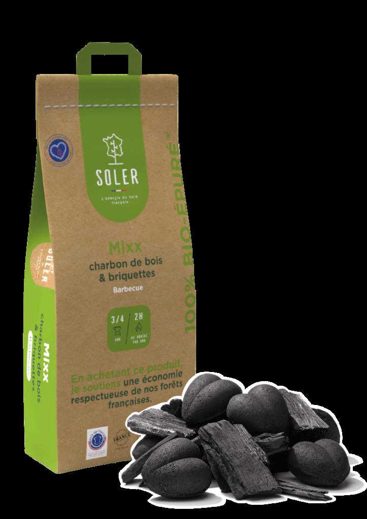 SOLER-Bio-épuré-Mixx charbon de bois et briquettes