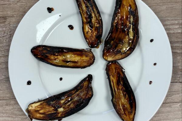 Recette Aubergine miel et vinaigre balsamique au barbecue
