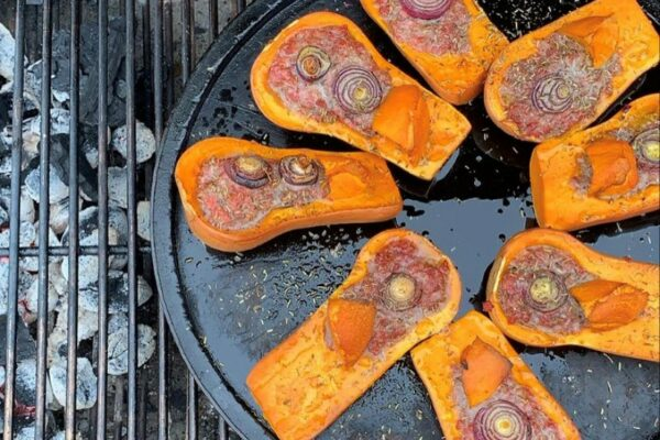 Recette-Butternuts farcies à la viande au barbecue