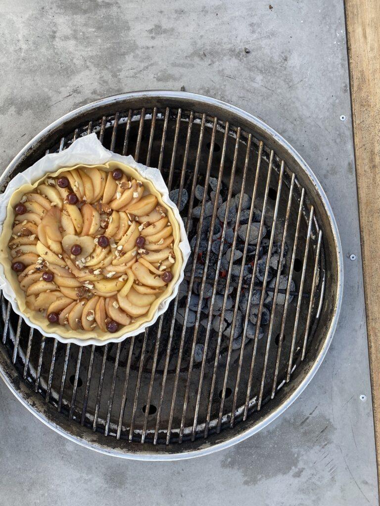 Recette-Tarte aux pommes au barbecue