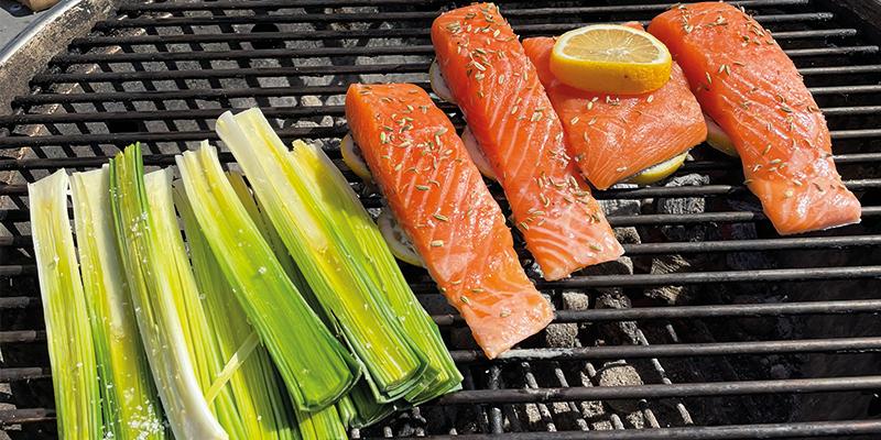 Recette - Barbecue - Saumon - Poireaux
