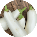 Soler - Recette - Barbecue - Légumes grillés automne -Aubergines blanches